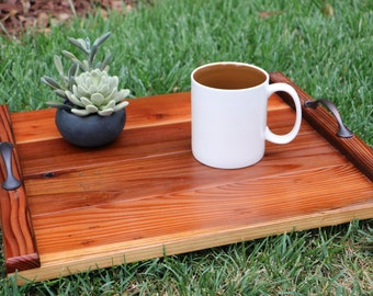 Hand Stained Wood Serving Tray