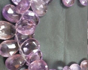 Natural Pink Amethyst Faceted Pear shape Approx 17x12mm