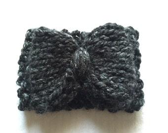 Black & Gray Bowband 3 - 6 mos
