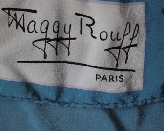 Maggy Rouff vintage 60's sheer silk shawl
