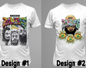 flatbush zombies t-shirt ,Dtg printed