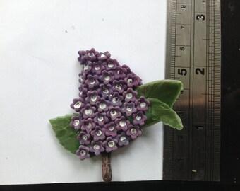 Lilac brooch, Lilac sprig