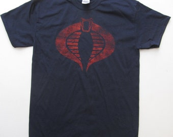 COBRA T-Shirt GI JOE Cobra Death Squad Cobra Commander T-Shirt Med-2XL