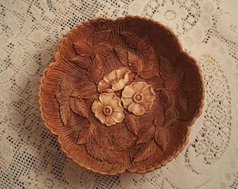 Multi Products Bowl Resin Embossed Flowers