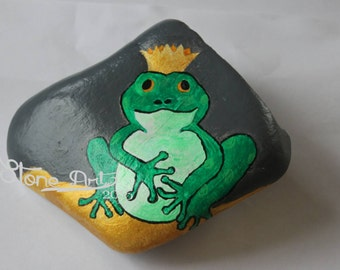 The Frog King pebble