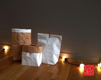 KRAFT PAPER BAG for any use, decoration, customization - Small size 45cm x 30cm x 10cm