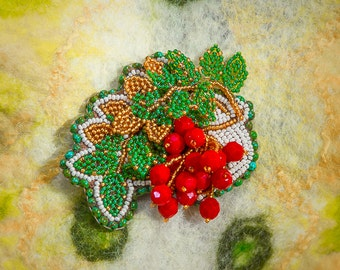 "handmade brooch ""Smorodinka"""