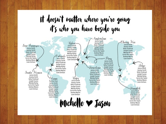 Custom world map seating chart printable digital personalized te gusta este artculo gumiabroncs Choice Image