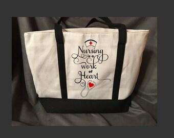 Zippered Nurse Tote Bag