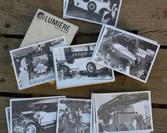 Lot 32 Photos black and white Salon car vintage