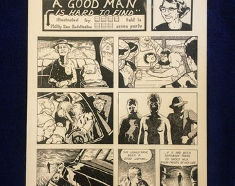 """Literary Print: Flannery O'Connor's """"A Good Man Is Hard To Find"""""""