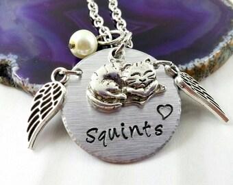 Custom Cat Memorial Jewelry~ Pet Loss ~ Cat Lover Gifts~ Custom Pet Necklace~ Cat Loss Gift