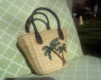 Tropical Straw Bag