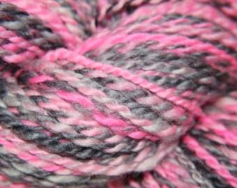 Handspun Blue Faced Leicester (BFL) Yarn-Shocking Pink