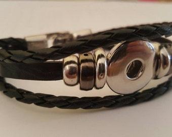 Leather interchangeable bracelet
