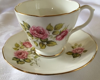 Pink Floral Tea Cup Set