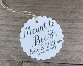 25 Meant to 'Bee' - Wedding Favor Tags