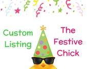 Reserved Custom Listing for Livia