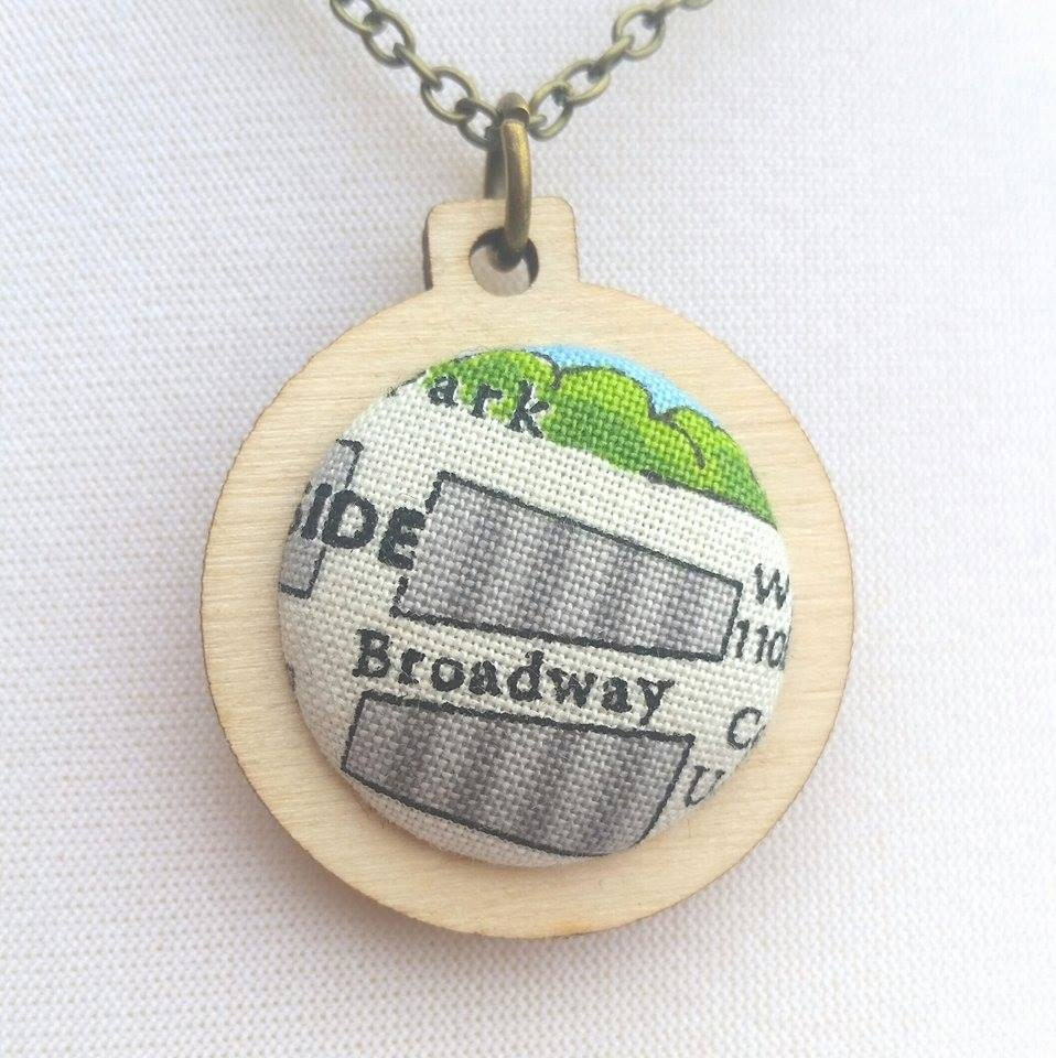 Broadway nyc jewellery in mini embroidery hoop lead free