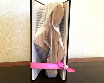 Pregnancy Reveal To Family, Pregnancy Reveal, Pregnancy Gift, We're pregnant, Gift For Mom New, Book Folding Art, Wife Gift, Book Fold