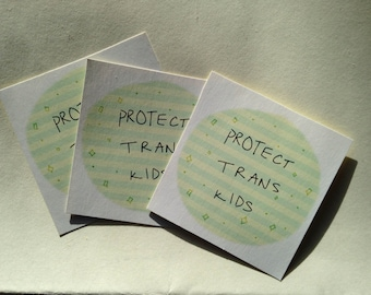 Protect Trans Kids Stickers