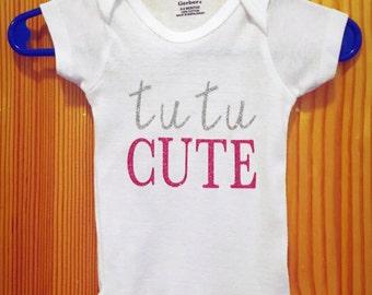 Tutu cute baby girl onesie