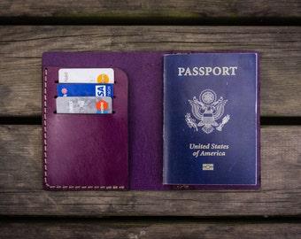 No.05  Leather Passport Cover , Passport Wallet , Passport Holder , Travel Wallet ,Handmade Personalized