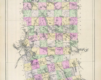 1885 Map of Piscataquis County Maine