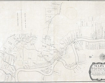 1799 Cadastral Map of Baton Rouge Louisiana