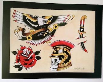 Tattoo Flash Sheets No.1-4