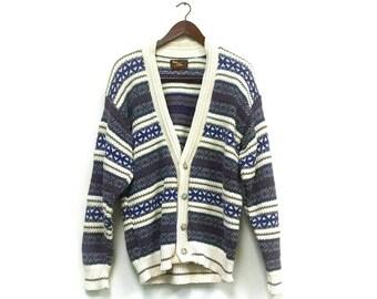 Sweetheart Sale// slouchy hipster cardigan sweater// vintage boyfriend cardigan// grandpa cardigan sweater//slouchy sweater