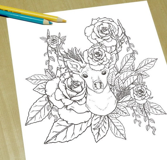 elegant printable adult coloring pages - photo#17