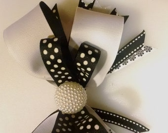 Black & White Fancy Bow
