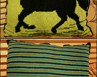 Knitted Horse Cushion
