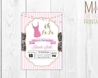 Lingerie card_2,Lingerie Party Invitation,Lingerie Invitation PRINTABLE,Bachelorette Party, Bridal Shower,Corset Invitations