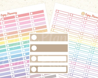 PRINTABLE Pastel Color Planner Stickers Circle, Planner Stickers, Rainbow Stickers, Stickers Erin Condren, Digital Planner Stickers