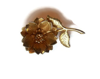 Vintage Flower Brooch Large Flower Brooch Gift for her