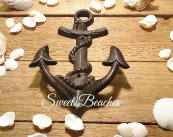 Old Salt  Anchor  Coat Hook Weather Rustic Look  Beach Seaside Nautical  Decor