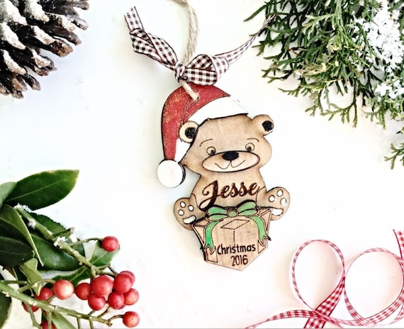 Personalised christmas decoration babys first christmas for Babys first christmas decoration