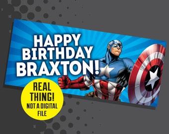 Captain America Banner - Captain America Birthday