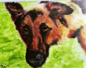 Personalised pet/animal glass painting