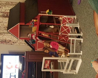 18 inch dolls horse stable