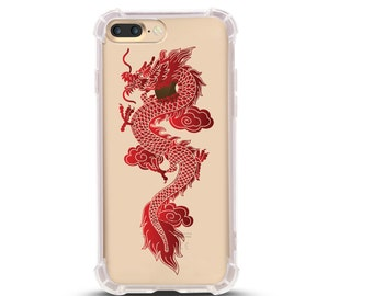 iPhone 6/6s and iPhone 7 Shock Absorption Case, Flying Dragon Design