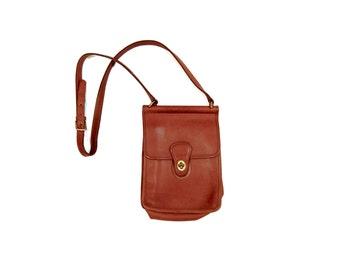 Vintage Coach satchel / Brown leather Coach purse / Leather cross body purse