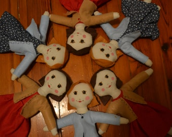 Handmade Soft Cloth Rag Dolls by Annie of Fincastle Farm, Age 11