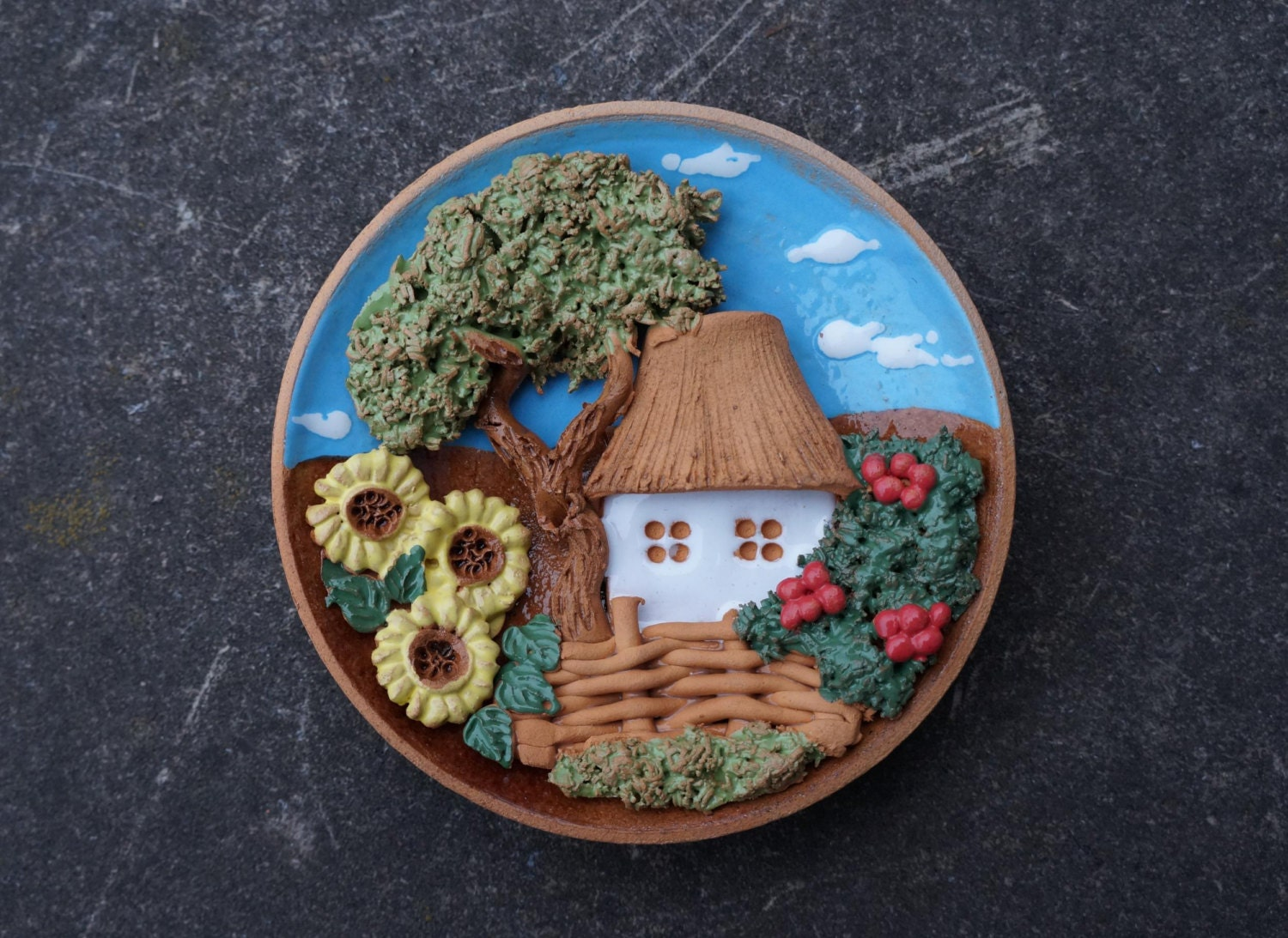 Ceramic decorative plate country wall decor rustic by for Decor plates