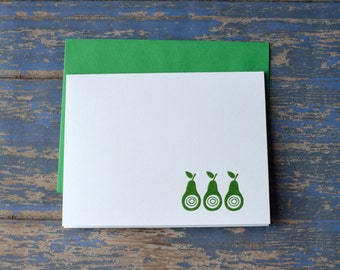 4 Pack:  Pears Note Cards Greeting Cards