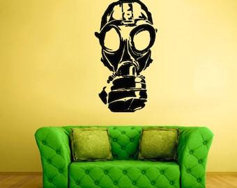 rvz1663 Wall Decal Vinyl Sticker Decals Gas Mask Respirator