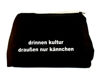 "Black bag cosmetic bag cosmetic bag ""inside culture, only outside pot"""