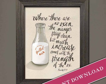Spilled Milk (Neutral) Printable Download  by Inklings of an Artist